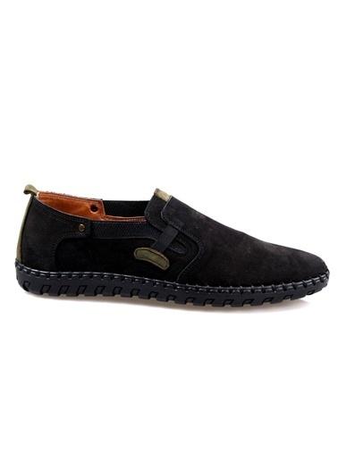 Darkwood 94112 Siyah Deri Günlük Ayakkabı Siyah